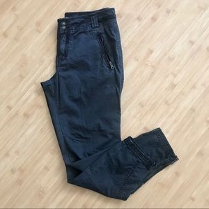 Free People Cargo Pants Utility Crops Zipper Leg